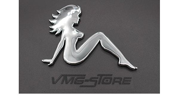 3d Emblem Frau Chrom Schaumstoff Kleberückseite Von Vmg Store Auto