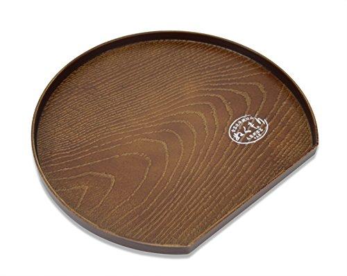 blett, Simuliert Holzmaserung Design, 22,5cm Half Moon Form, für Tee, Sake, Sushi, Sashimi. ()