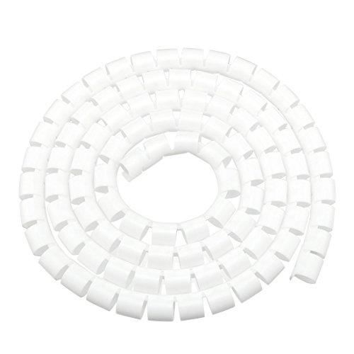 sourcing map 20mm Flexibel Spiral Rohr Kabel Draht Computer Verwalten Schnur Weiß 2M de -