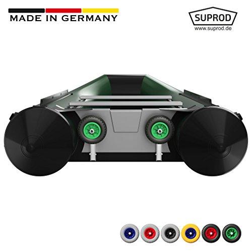 Slipräder SUPROD HD200, einfache Klappfunktion, extra starke Ausführung (schwarz/grün, Edelstahl V4A)
