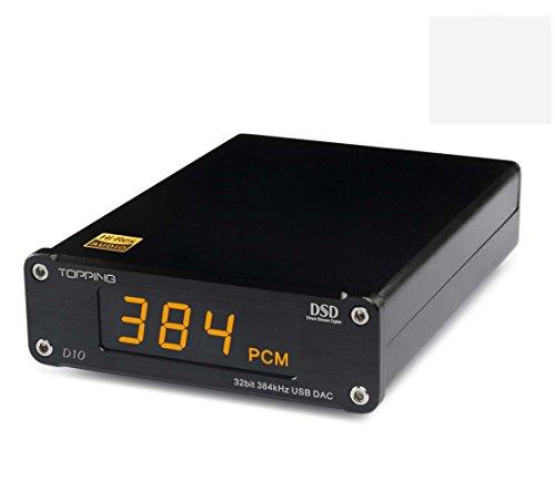 Amplificador de Destello HiFi Topping D10 Mini USB DAC CSS XMOS XU208 ES9018K2M OPA2134 Amplificador de Audio Decoder