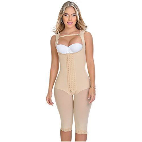 MYD 0085 Slimming Firm Full Body Shaper für Frauen - Fajas Colombianas para Mujer - beige - Groß -