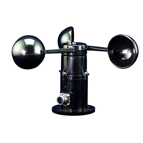 BAOLH Anemometer Sensor, High Precision Wind Cup Poly Carbon DREI Cup Typ Handmini Convenient Transmitter for Wetterdatenerfassung und Outdoor Sport Windsurfen Segeln Ausruhen (Farbe : Schwarz)