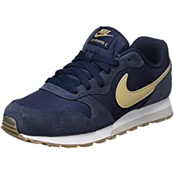 Nike Md Runner 2, Zapatillas de Running Niño, Azul (Obsidian/Mushroom/Light Bone/Gum Dark Brown), 37.5 EU