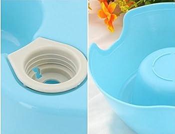 Nalmatoionme Gamelle Cat automatique Distributeur d'eau Boisson Gamelle Plat de nourriture pour chien (Bleu)