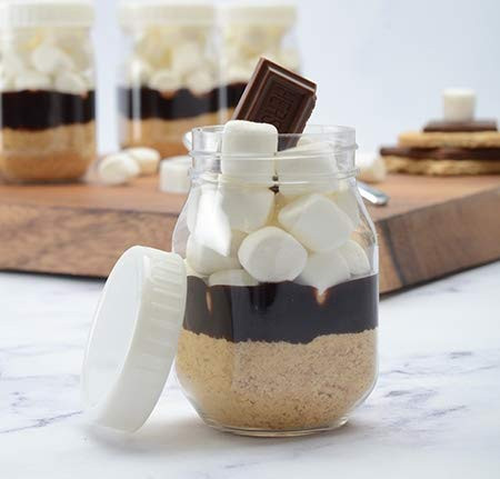 Mini-Einmachgläser, Kunststoff, mit Deckel, 115 ml, 10 Stück - Mini-plastik-mason Jars
