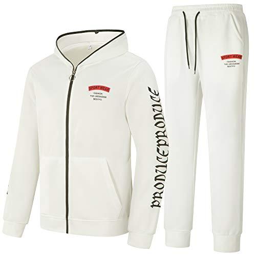 Yingqible Uomo Giacche Invernali Manica Lunga Collo Zips/Pullover Casual Jogging Palestra Set Sportiva Felpa E Pantaloni 2 Pezzi Tute