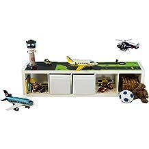 Möbelaufkleber Landebahn - passend für das IKEA EXPEDIT Regal - Kinderzimmer Spieltisch - Möbel nicht inklusive