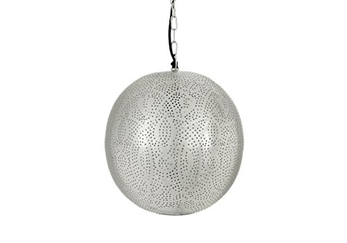 New Käufer Bazaar handgefertigt Orb Anhänger Licht, Marrakesch/Marokkanischer Hänge Lampe, Silber, klein E27, 40Watt (Orb-kleiner Anhänger)