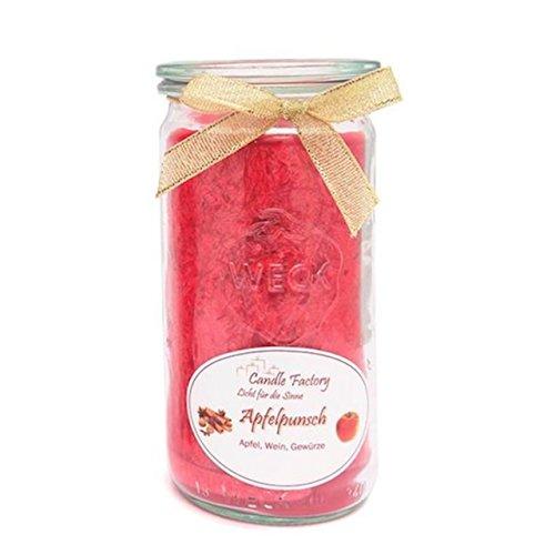 Pms Rot Apfel/Zimt Duft Wachs Kerze in Bell Jar Wohnaccessoires & Deko Möbel & Wohnaccessoires