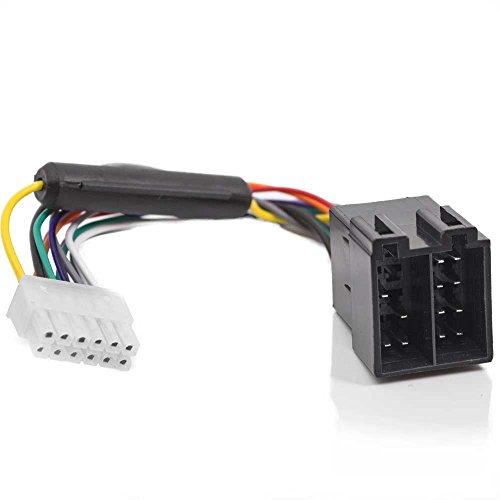 HSRpro Universal Autoradio ISO Adapter Kabel für Anschlusskabel Buchse Verbindungs Stecker für JVC und viele anderer Autoradio