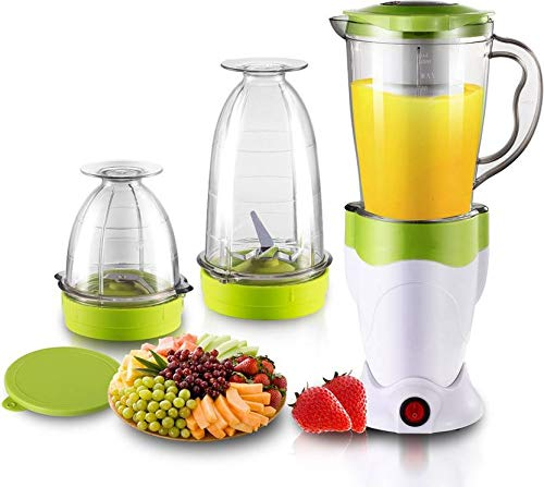 BMS Lifestyle SKG01 400 W High-Speed Nutri-Blender Juicer Mixer Grinder with 3 Jars (White and Green)