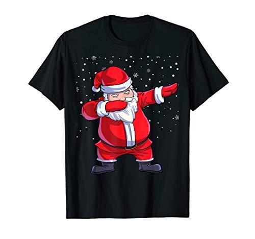 Weihnachten T-Shirt Dabbing Weihnachtsmann Dab Xmas Geschenk (Herren Santa Claus Kostüm Tshirt)