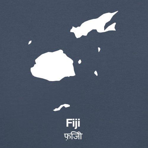 Fiji / Fidschi Silhouette - Herren T-Shirt - 13 Farben Navy