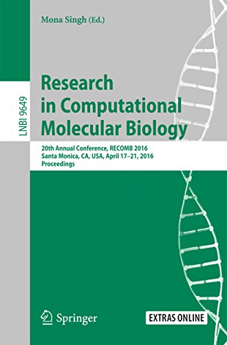 Annual Ca Design (Research in Computational Molecular Biology: 20th Annual Conference, RECOMB 2016, Santa Monica, CA, USA, April 17-21, 2016, Proceedings (Lecture Notes in Computer Science))