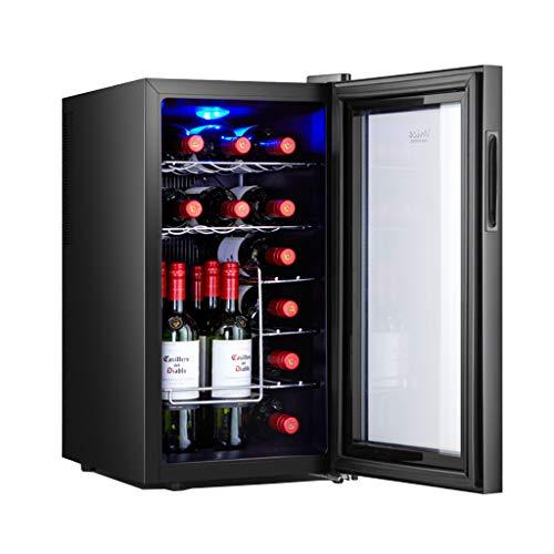 JCOCO 18 botellas de enfriador/enfriador de vino termoeléctrico | Encimera de vino tinto y blanco bodega | refrigerador independiente, refrigerador...