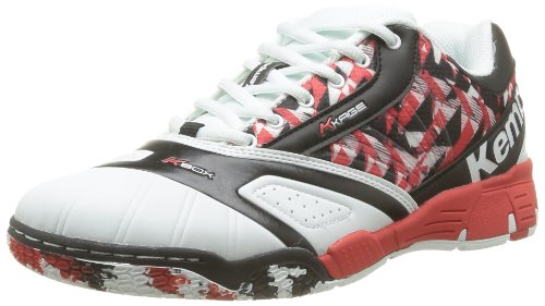 Kempa  Tornado Explosion,  Sneaker unisex adulto, Bianco (Blanc (White/Black/Red)), 46