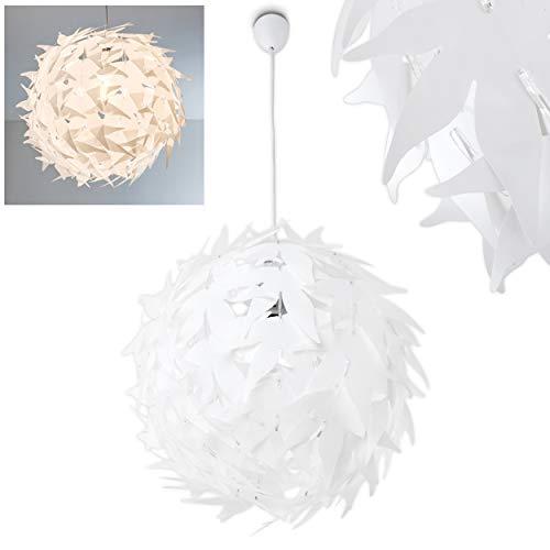 Extravagante Hängeleuchte in Weiß – Designer Pendelleuchte Dokkas aus Metall – Wohnzimmer Deckenlampe sehr auffällig – geeignet für LED – Schlafzimmer Leuchte – runde Zimmerlampe LED fähig