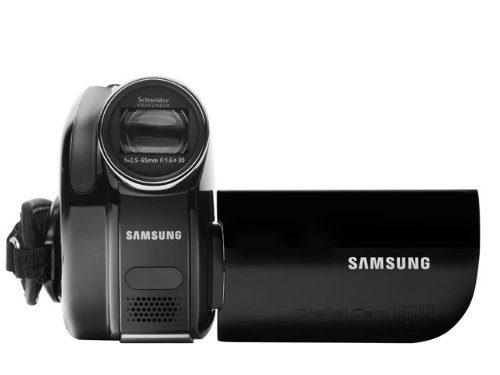 Samsung vp-dx100 ccd black hand-held camcorder - camcorders (ccd, 800000 pixels, 34x, 1200x, 3.05 cm, 6.86 cm (2.7