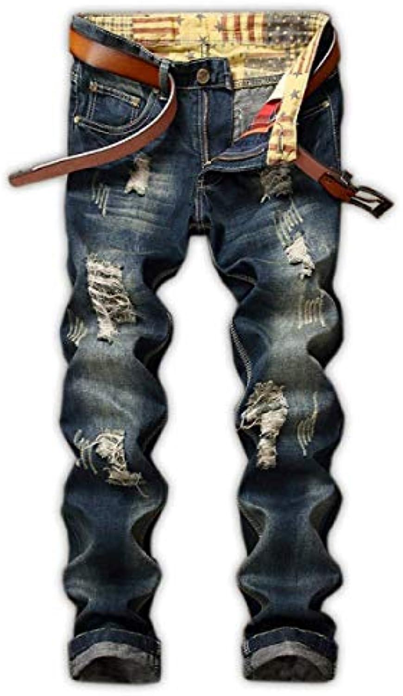 HX fashion Taglie Jeans A Vita Media Dritti da Uomo Slim Taglie fashion  Comode Fit Elasticizzati ec7dc83530a2