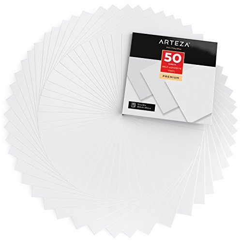 Arteza Láminas vinilo adhesivo | Color blanco mate