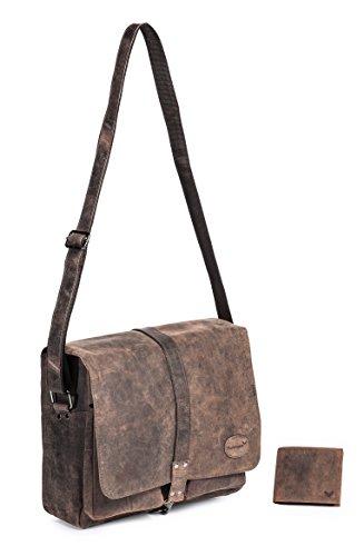 Packenger Mit Reißverschlusstasche an der Front, der Rückseite und im Innenraum, Handyfach und Geldbörsenhalter