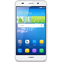 "Huawei Y6 - Smartphone libre de 5"" (Qualcomm S210 Quad Core a 1.1 GHz, 1 GB de RAM, 8 GB de memoria interna, Single SIM, Android), blanco"