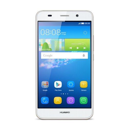HUAWEI Y6 - SMARTPHONE LIBRE DE 5 (QUALCOMM S210 QUAD CORE A 1 1 GHZ  1 GB DE RAM  8 GB DE MEMORIA INTERNA  SINGLE SIM  ANDROID)  BLANCO