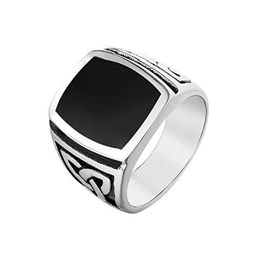 Daesar Edelstahlringe für Männer Keltischer Knoten Breit 17 MM Silber Herren Ring Freundschaftsring Größe 57 (18.1) (Lego Fallen Titan)