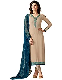Viha Brasso Embroidered Semi-Stitched Straight Salwar Suit