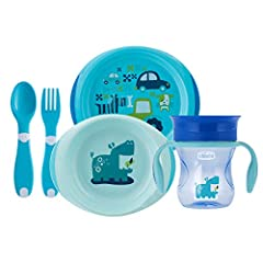 Idea Regalo - Chicco   Set Pappa 12M+, Bimbo, Blu
