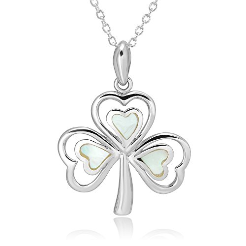 925-sterling-silver-mother-of-pearl-inlay-irish-shamrock-3-leaf-clover-pendant-necklace-18