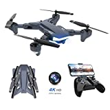 Supkiir WiFi FPV Drone, Foldable RC Quadcopter with 4K HD Camera for Adult
