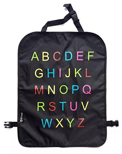 Preisvergleich Produktbild EZ-Bugz Alphabet Kick-Matten, Premium Auto Rückenlehnenschutz & Sitzschoner für Kinder (2er-Pack), Schutz für Autositz