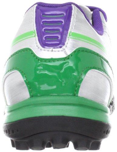 Puma evoSPEED 5 TT Jr 102597, Scarpe da calcio unisex bambino Argento (Silber (puma silver-team green 03))