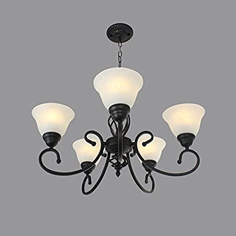 CAC Vintage bracci 5 e27 di artigiani del ferro luci pendente Lampara Colgante Loft Foyer lampada da soffitto camera da letto decorazioni luci