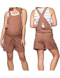 CinnamouPremamá Petos Mujer, Mono Cortos Pantalones Embarazada Ropa de Maternidad Pantalones Cortos Pantalón Overol de Mujer Rompers
