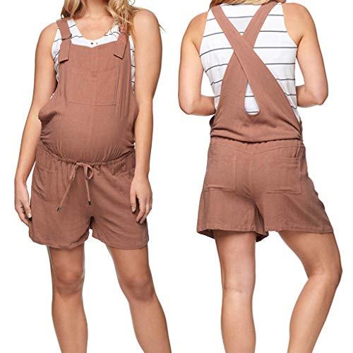 ac26e6af CinnamouPremamá Petos Mujer, Mono Cortos Pantalones Embarazada Ropa de  Maternidad Pantalones Cortos.