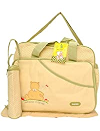 Kayakare Multi Compartment Mother Daiper Bag/For Baby Care Daiper Changing Mat And Bottle Cover (Aagelo Light...