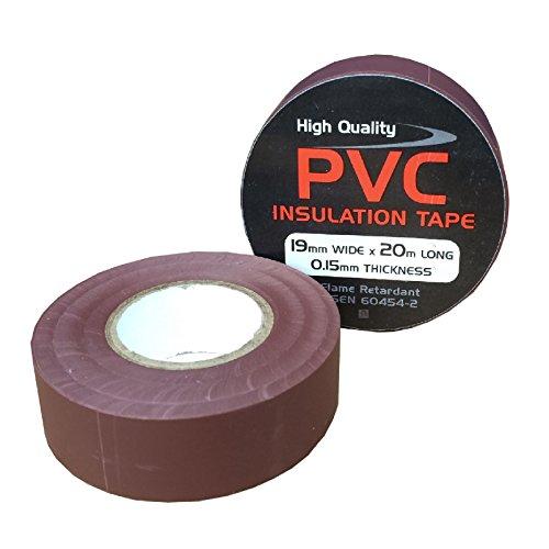 2-x-marrone-elettrico-pvc-isolamento-nastro-19mm-x-20-metri-ritardante-di-fiamma