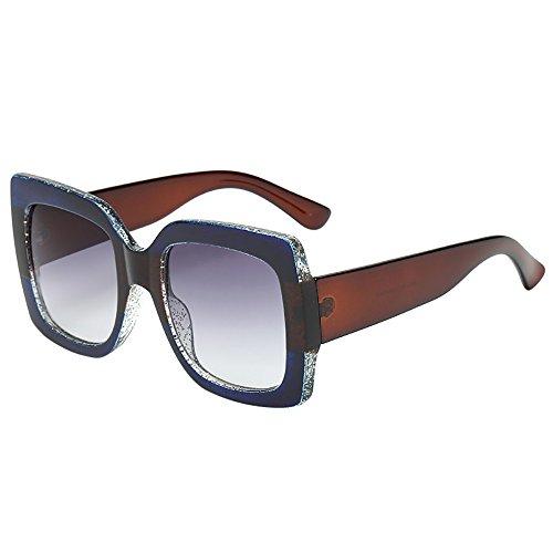 Battnot☀  Sonnenbrille für Damen, Oversized Übergroße Gradient Lens Unisex Vintage Mode Quadratische Luxus Anti-UV Gläser Schutzbrillen Frauen Billig Retro Shades Sunglasses Women Outdoor Eyewear