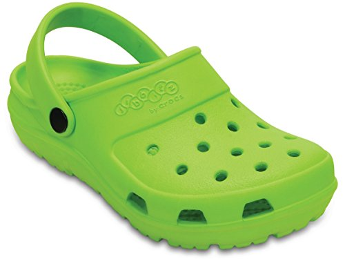 Crocs Children Boys Presley Beach Shoes in Green- Slip On Design