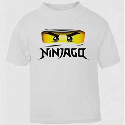 ugen T-Shirt für Mädchen und Jungen, Geschenkidee (Ninja-augen)