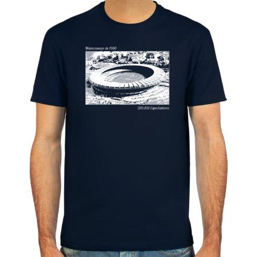 SpielRaum T-Shirt Maracanaço ::: Farbauswahl: deepred, schwarz, oliv oder navy ::: Größen: S-XXL ::: Fußball-Kult deepred