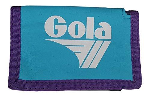 Jungen/Mädchen Gola Retro Dreifach Faltbar Nylon Münze & Karte Portemonnaie Blau/Marineblau/Farbe Zwetschge, One Size