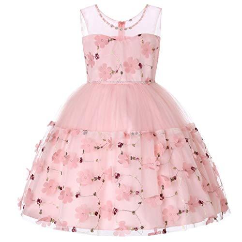 (Amphia - Baby Mädchen Prinzessin Tüllrock Tutu Rock festlich Blumenkleid Kleinkind - Kinder ärmellose Bogen-Spitzennetz-Rockkleid-Kleid,(3J-13J))