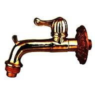 Vette cdf03708Wasserhahn künstlerisch für Brunnen, Messing Hebel, Gold glänzend, Messing