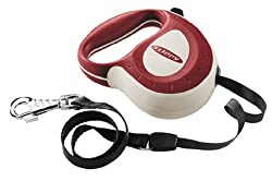 Ferplast Flippy Controller Tape, Retractable Dog Lead, Burgundy, Medium