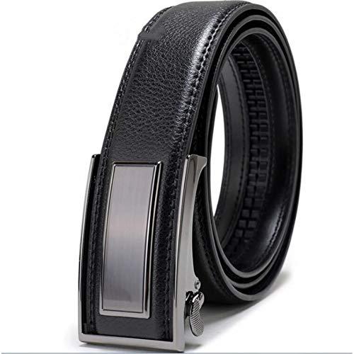 Großhandel Gürtel (LYWBLACK Herren Leder Ratsche Gürtel mit automatischer Schnalle Großhandel Gürtel für Männer ModeHomme Gürtel für Kleider)