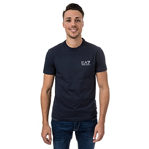 Emporio Armani Mens Ea7 Train Id Crew Neck T-Shirt in Navy